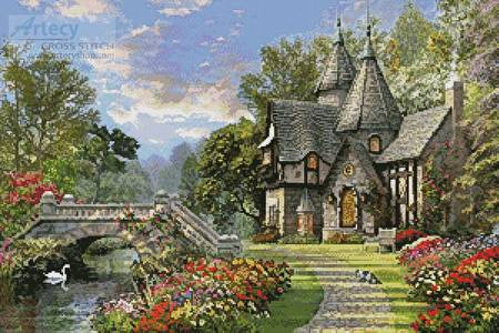 cross stitch pattern The Old Waterway Cottage