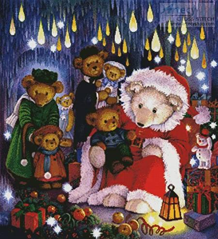 cross stitch pattern Father Christmas