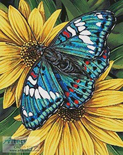 cross stitch pattern Gaudy Baron Butterfly