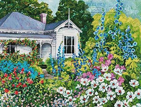 cross stitch pattern Grandma's Garden