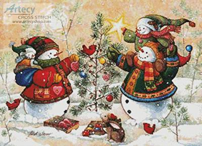 cross stitch pattern Holiday Sparkle