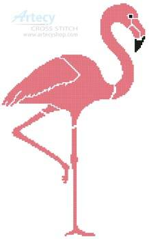 cross stitch pattern Pink Flamingo