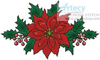 cross stitch pattern Poinsettia 2