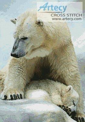 cross stitch pattern Polar Bear and Cub 2