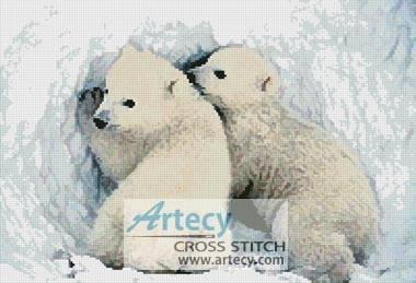 cross stitch pattern Polar Bear Cubs