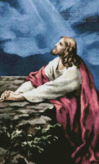 cross stitch pattern Prayer