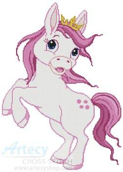 cross stitch pattern Princess Horse