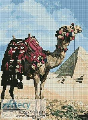 cross stitch pattern Pyramids and Camel