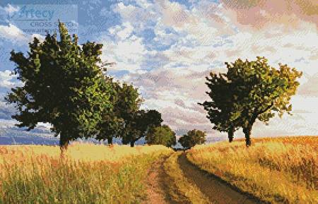 cross stitch pattern Path Through the Trees