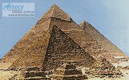 cross stitch pattern Pyramids