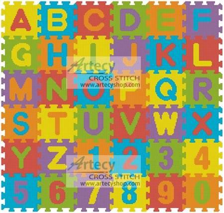 cross stitch pattern Puzzle Mat