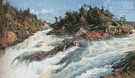 cross stitch pattern The Raging Rapids