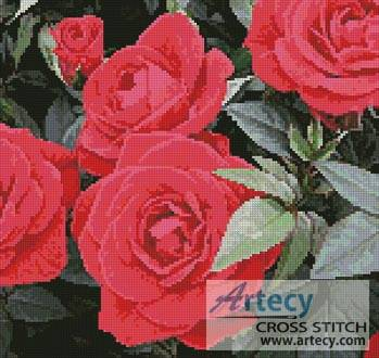 cross stitch pattern Red Roses