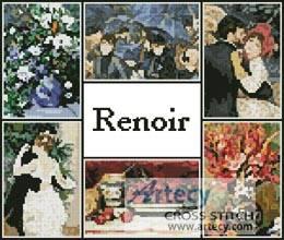 cross stitch pattern Renoir Sampler