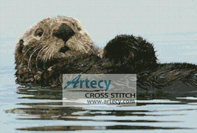 cross stitch pattern Sea Otter