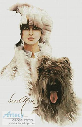 cross stitch pattern Diana (Sara Moon)