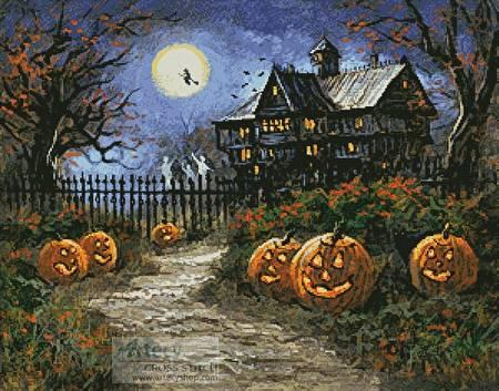 cross stitch pattern Spooky Halloween