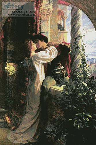 cross stitch pattern Romeo and Juliet