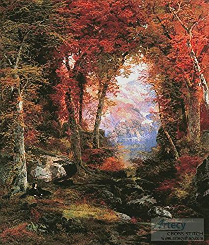 cross stitch pattern The Autumnal Woods (Large)