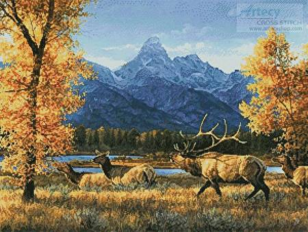cross stitch pattern Teton Range