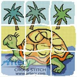 cross stitch pattern Turtle Design