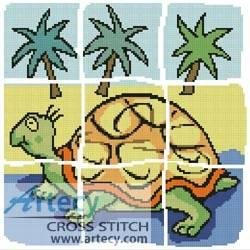 cross stitch pattern Turtle Design
