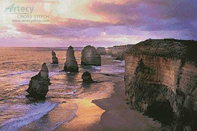 cross stitch pattern Twelve Apostles Sunset