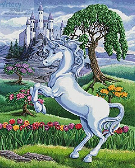 cross stitch pattern Unicorn Kingdom