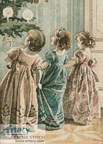 cross stitch pattern Victorian Christmas