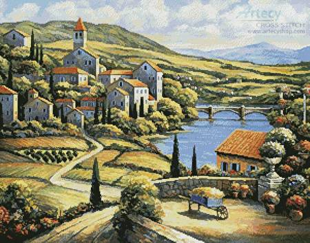 cross stitch pattern The Village A