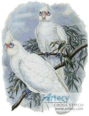 cross stitch pattern White Cockatoos