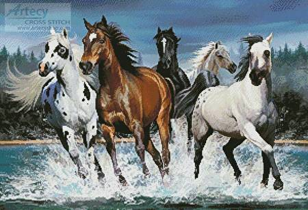 cross stitch pattern Wild Horses