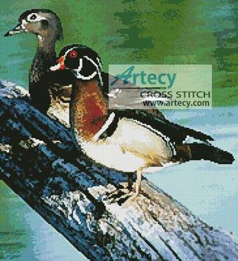cross stitch pattern Wood Ducks