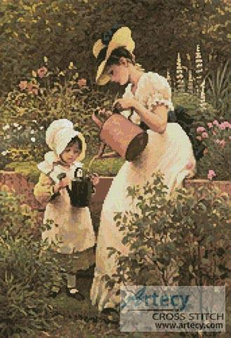 cross stitch pattern The Young Gardener