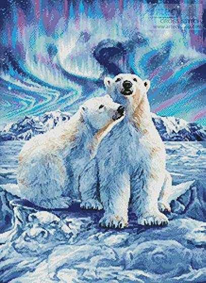 cross stitch pattern 10 Polar Bears