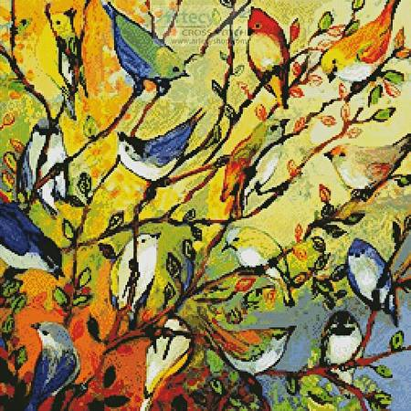cross stitch pattern 16 Birds