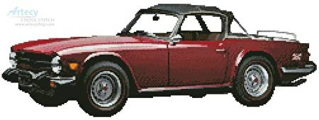 cross stitch pattern 1976 Triumph TR6 Convertible