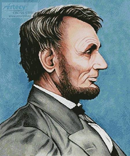 cross stitch pattern Abraham Lincoln
