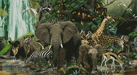 cross stitch pattern African Rainforest