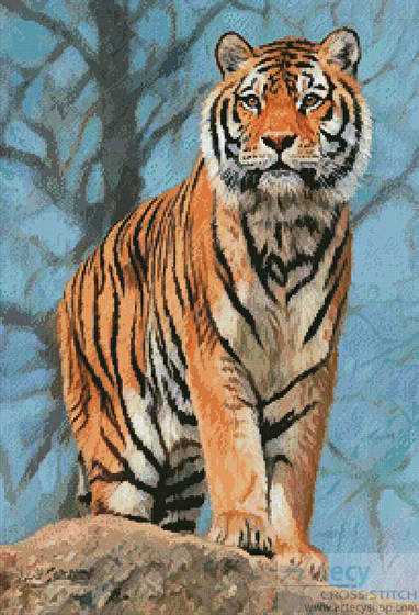 cross stitch pattern Amur Tiger Guard
