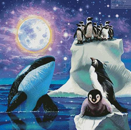 cross stitch pattern Arctic Dreams