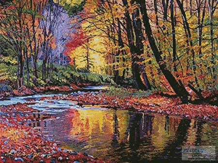 cross stitch pattern Autumn Prelude