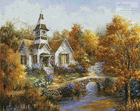 cross stitch pattern Autumn Worship