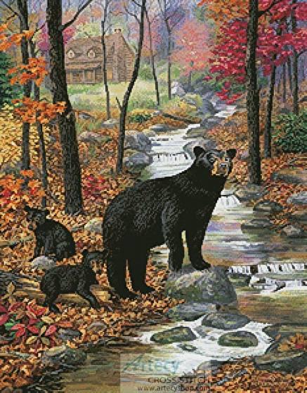 cross stitch pattern Bearly Moving
