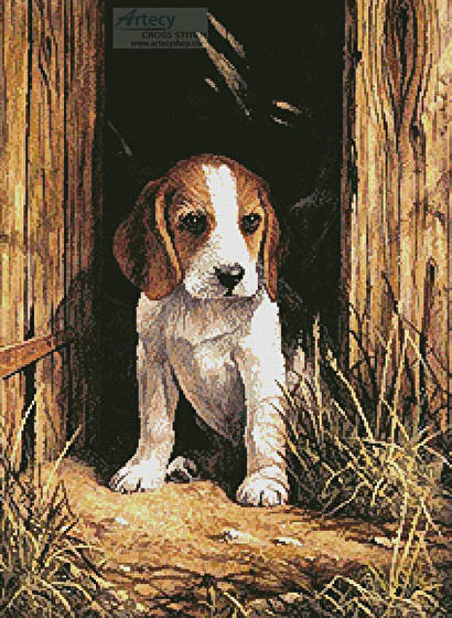 cross stitch pattern Beagle Puppy