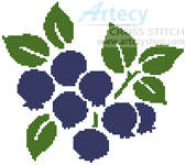 cross stitch pattern Blueberries
