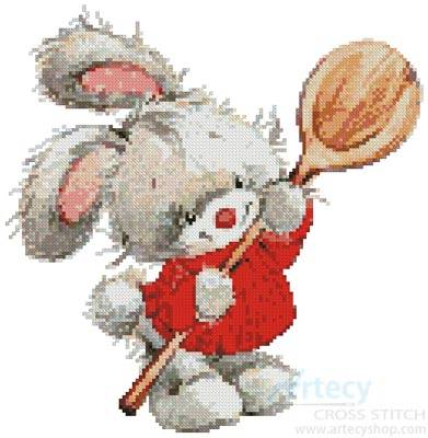 cross stitch pattern Bunny with Spoon
