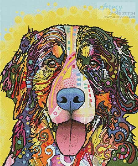 cross stitch pattern Bernese Mountain Dog