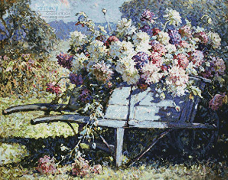 cross stitch pattern Barrow of Blooms
