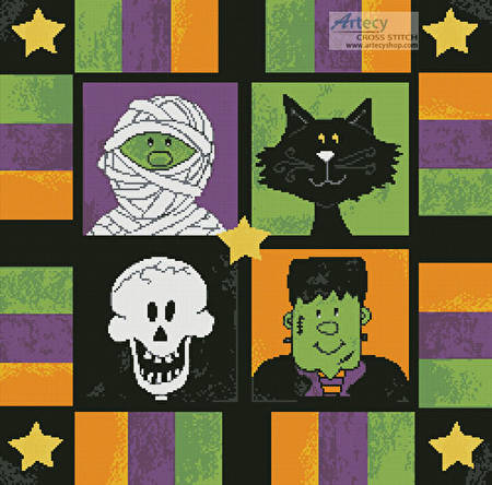 cross stitch pattern Boo to You Square